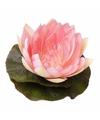 Bruiloft versiering waterlelie roze