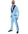 Lichtblauw maatpak kostuum voor heren