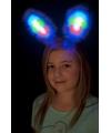 Blauwe bunny oren met licht