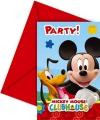 Mickey Mouse uitnodiging 6 stuks