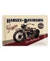 Flathead Harley Davidson muurposter van metaal