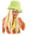 Pluche groene hoge hoed