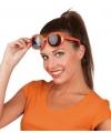Oranje bril  met vierkante glazen