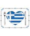 Griekse placemats van papier
