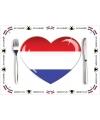 Hollandse placemats van papier 10 stuks