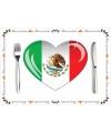 Mexicaanse placemats van papier 10 stuks