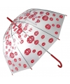 Liefdes paraplu met kusjes 85 cm