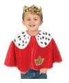 Rode koning poncho voor peuters