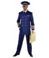 Piloot kostuum heren blauw