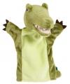 Pluche handpoppen krokodil 22 cm