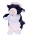Pluche koe handpoppen 28 cm