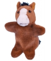 Pluche paard handpoppen 28 cm