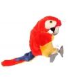 Pluche papegaai handpop rood/geel