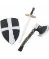 Plastic ridders wapens speelset