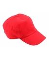 Baseballcaps in rode kleur