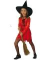 Rode heksenjurken voor meisjes