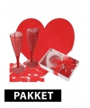 Romantisch ontbijt versiering pakket