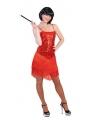 Rood glitter charleston jurkje