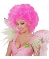 Neon roze pruik voor dames