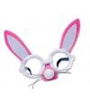 Roze paashaas bril met oren en snuit