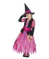 Roze heksen verkleedkleding voor meisjes