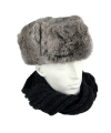 Russische grijze bontmuts