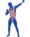 Second skin suit Engelse vlag print