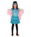 Blauwe pailletten jurk voor meisjes