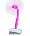 Smartphone ventilator met USB aansluiting roze
