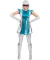 Space jurkje blauw/zilver voor dames