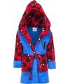 Spiderman badjas blauw met rood