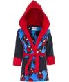 Spiderman badjas zwart met blauw