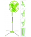 Staande ventilator groen met wit 40 cm