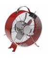 Mini tafel ventilator rood 26 cm