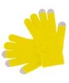 Smartphone handschoenen geel