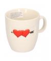 Valentijn koffiekopje met hartjes