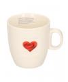 Valentijn koffiekopje met bloemhart