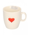 Valentijn koffiekopje met hart