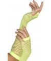 Neon groene visnet handschoenen