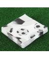 Voetbal servetten zwart met wit