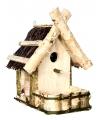 Houten vogelhuisje met balkon 33 cm