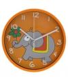 Oranje klok olifant 23 cm