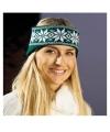 Warme haarband Nordic donkergroen