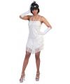 Wit glitter charleston jurkje