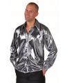 Disco zilveren overhemd voor heren