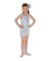 Zilveren glitter jurk voor meisjes